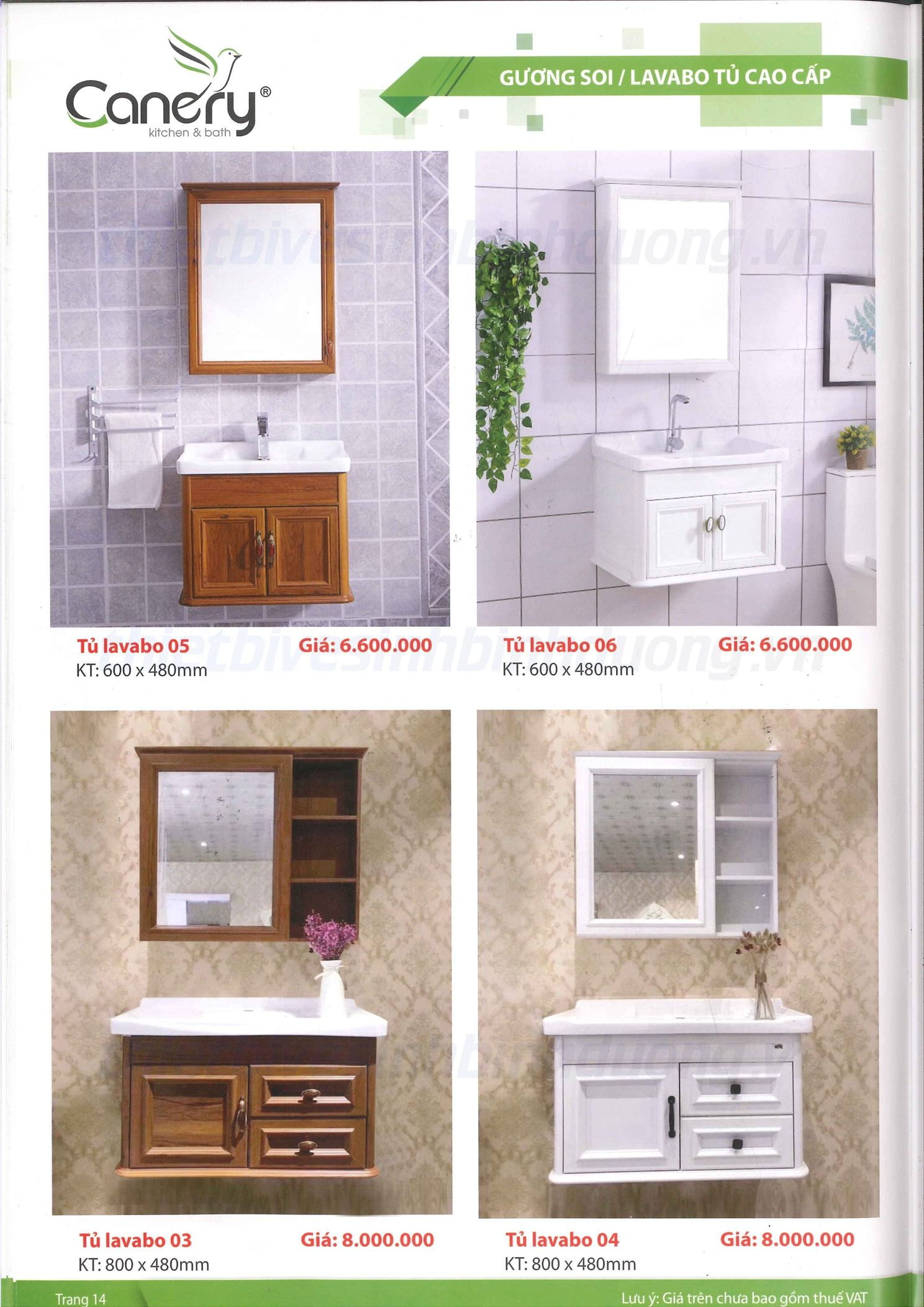 Bộ tủ Lavabo Canary 04
